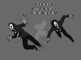 Creepypasta male pose (demon): Kagekao by darkangel6021