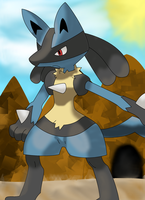 Lucario by Destiny-The-Hedgimon