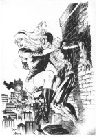 Spider Man And Gwen Stace By Alissonart-d6yc0q9 by DiegoBernard