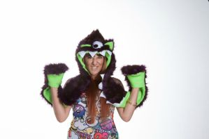 Furry One Eyed Monster Hat with Teeth3 by kawaiibuddies