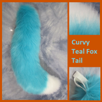 Curvy Teal Fox Tail by Lascivus-Lutra