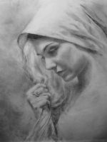 Portrait of Muriel in Charcoal by RyanChalifour
