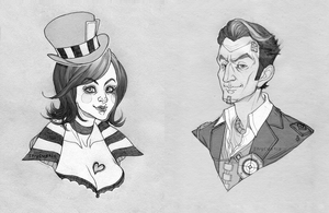 Jack and Moxxi Bust Commissions by ShyCustis
