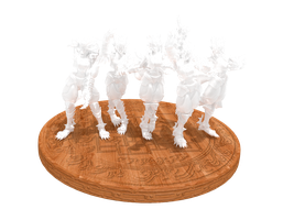 'LOCO' Foxy Lady glass figurine render 1 by lezisell