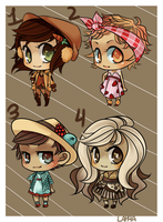 Adoptables: sweets [closed] by lapaa
