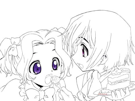 Code Geass: Lelouch and Nunnally by IndirexArt