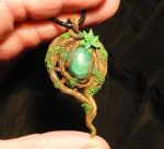 Emerald Soul - handmade Pendant with Emerald by Ganjamira
