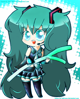 Chibi Miku - colored by Hakiwan