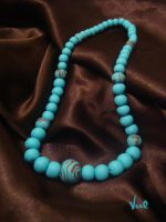 Turquoise bead necklace by Valkyrie-21