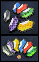 Legend of Zelda Rupee magnets/pins by BklynSharkExpert