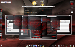 E17-Theme Elive-Red by verdegal37