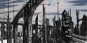 The City That Stands Beneath The Crumbling Sky 1 by Remeindre