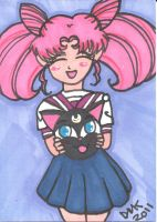 ACEO-ATC Rini and Luna P Ball by MindOfPain
