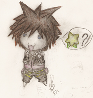 Sora chibi -COLOURED- by Rakkaus-Metalli