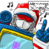 merry X'mas- soundwave by qunhyskoa