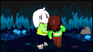 Asriel And Chara by BFDIFan1234