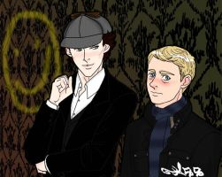 Let's draw Sherlock by Dee-Linquent