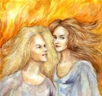 Burning flame by Leona-Norten