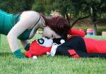 Poison Ivy and Harley Quinn by lovebirdcosplays
