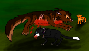 Death of Tigerstar by FanguoftheFlowers