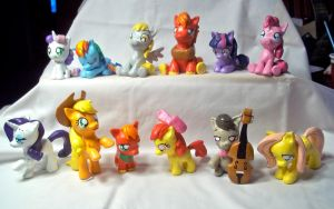 MLP FiM Sculpts by CadmiumCrab