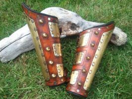 Steampunk Gladiator Bracers by Skinz-N-Hydez