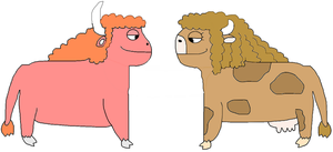 Cattle-Earth Harold and Susie by jacobyel