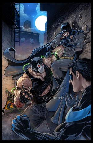 Bane vs Batman by VinRoc