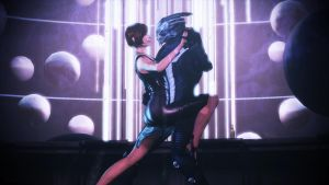Shepard and Garrus: First Date Tango by CaptBuck98