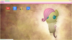 A Kind Baby Filly Google Chrome Theme by bubblehun