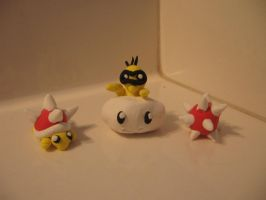 Lakitu and his Spinies by Terrapyn