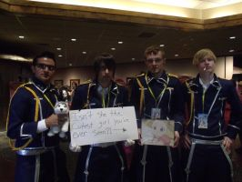 Roy Mustang and Group Cosplay- Colossalcon 2014 by albertxlailaxx