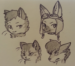 Surprise headshot sketches! by cutevulpix56