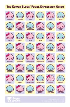 Kawaii Faces Guide by mAi2x-chan