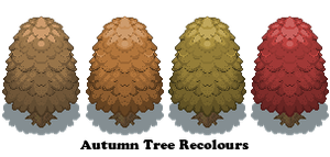 Tree recolours, Autumn by Of-Nihility