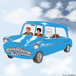Flying Ford Anglia by sicklequill8384