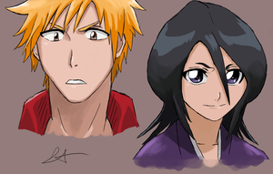 Just some Bleach doodles by Akadafeathers