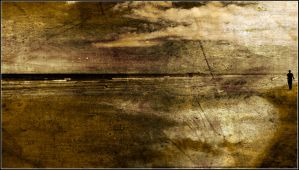 Bamburgh Beach Textured by newcastlemale