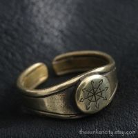 Bronze Chaos Star ring by Sulislaw