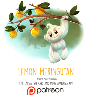 Daily Paint 1452. Lemon Meringutan by Cryptid-Creations