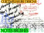 Notes Brushes by guiltypleasuredes