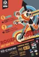 Roller Derby Poster! by Of-Red-And-Blue