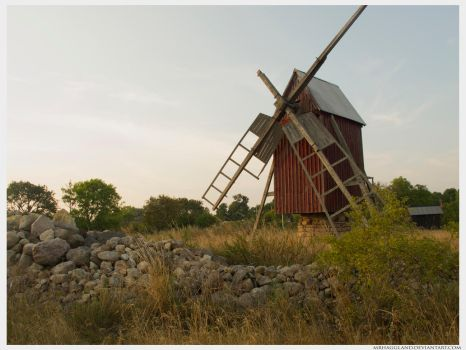 Farms and Windmills by MrHaggland