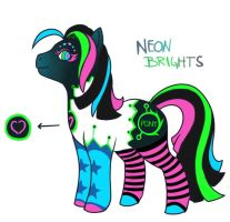 MLP - Neon Brights - The Entry by nyausi