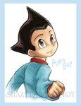 Cutest Little Robot Boy by shazy