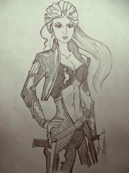 Armored woman by Ningk3