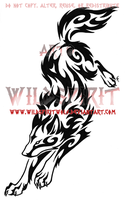 Wolf Leap Tribal Swirl Tattoo by WildSpiritWolf