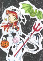 Halloween with BB and Star by teentitans