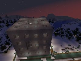 Minecraft - Square Fractal at Night by solo-ion