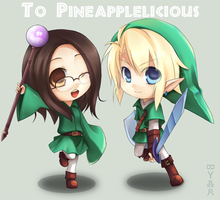 Art Trade_Link+Pineappleliciou by bji4z06kimocom